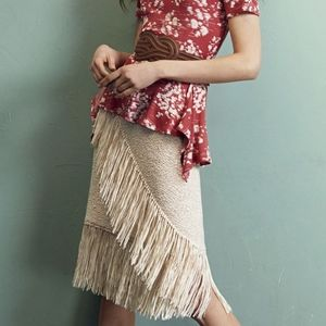 BCBG MaxAzria Varah Fringe Stretch Pencil Skirt XS